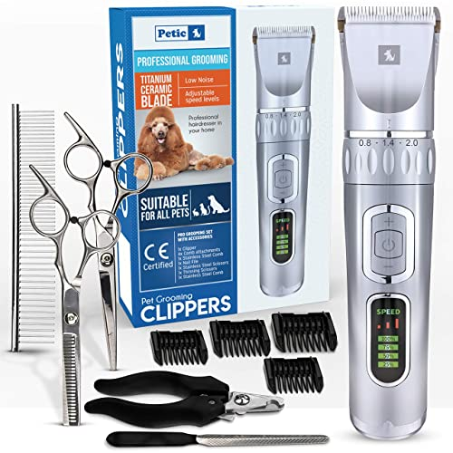 Professional Rechargeable Cordless Pet Dogs and Cats Electric Clippers Trimmer