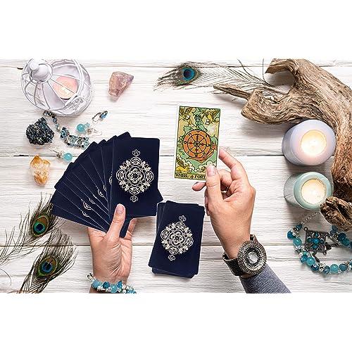 This Premium Rider Waite Tarot Deck is a Long Lasting 78 Card Tarot Set for Beginners and Experienced Readers MIRIYAN Classic Tarot Cards Deck with Original Pamela Colman Smith Artwork