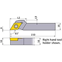 4.500 L 1.000 Neck Length 0.750 W 0.750 H Mitsubishi Materials MTVOL-12-3B External Grooving and Threading Holder Left