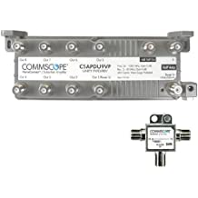 Pack 2 Commscope M81 Blank Coaxial Adapter White