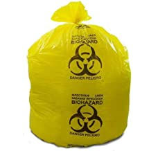 Biohazard Waste Disposable Bags in Perforated Roll 5-7 Gallon Capacity 18 x 22 Red 20 Bags//Roll