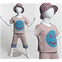 5-6 Years old Turnable arms,removable and turable head with One free Wig. PS-D2//D02+One free Wig ROXYDISPLAY/™ Plastic Child Mannequin standing pose