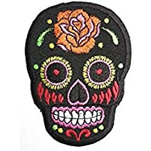 MOTLEY CRUE Skull Logo Iron On Sew On Rock Metal Embroidered Patch Applique 4.6//12.7cm