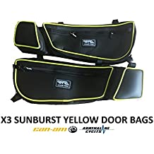 PRP Textron Wildcat XX Stock Door Bag Green Piping Pair E75-W