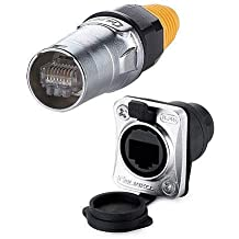 Rated 50amp Outdoor Waterproof IP67 CNLINKO 2 Pin 50Amp Power Industrial Circular Connector Screw Locking Termination Male Plug /& Female Panel Mount Receptacles Socket Jack Easy Plug and Pull