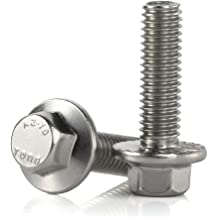 PZRT 2pcs Cylindrical Hollow Hexagon Socket Screw 304 Stainless Steel Lamp Threading Screws Through Hole Bolt with Hex Nut M6x20mm