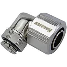 1//2in x 3//4in G 1//4 BSPP Koolance FIT-L13X19 Rotary Elbow Compression Fitting for 13mm x 19mm