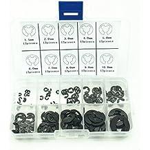 120PCS 1.5mm-10mm E-Clip Assortment Kit Stainless Steel Retaining Circlip Set