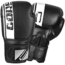 PU Leather Boxing Gloves Muay Thai Fighting Kickboxing Bag Mitts 2 Pair//Set