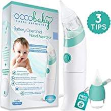 HailiCare Nose Cleaner Baby Nose Sucker and Snot Sucker Nose Suction for Newborns and Toddlers with 4 Silicone Tips and 3 Suction Levels Baby Nasal Aspirator Electric