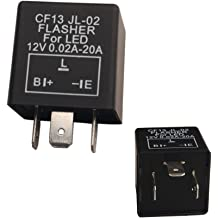 3-Pin CF-13 CF13 EP34 Electronic Flasher Relay Fix w//Speed Adjustable Function For LED Turn Signal Light Bulbs Resolve Rapid Quick Flash Issue 1 iJDMTOY