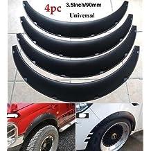 ZXMOTO Car Trucks Wheel Fender Mudguard Extension Flares Protector 3M Rubber Moulding Strip Trim 2X 4.9ft Black