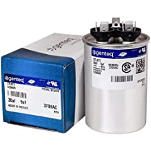 replaces old GE# Z97F9830 ORIGINAL new GE Genteq Capacitor round 35//7.5 uf MFD 370 volt 97F9830 FAST SHIPPING 7.5 MFD at 370 volts 35