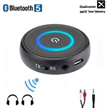 AptX HD/&Low Latency SZMDLX Long Range Bluetooth 5.0 Transmitter Receiver Bypass 3-In-1 Wireless Audio Adapter for TV,PC,Car and Home Stereo System Bluetooth Transmitter Receiver Optical Digital