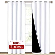 Functional Ascot Pole Pocket Curtain Top Decoration Valance Drape Tier for Living Room//Kitchen//Bedroom//Nursery Burgundy NICETOWN Blackout Valance for Small Window 1 Piece 52W by 18L inches