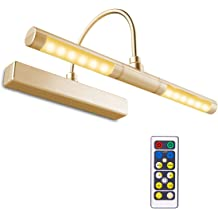 11 1//2 inch Polished Brass Concept 101L Cordless Remote Control LED Picture Light
