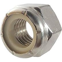 5//16-18 Grade 8 Nylock 250 Pack NE Nylon Insert Hex Nut Lock Grade C Zinc Yellow U-Turn