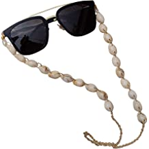 Cathercing Fashion Eyeglass Chains Necklace Pearl Beaded Eyewear Retainer Reading Eyeglass Holder Strap Sunglasses Holder Cords Eyewear Retainer Lanyards for Women Girls Elderly and Children