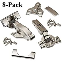 Frameless Self Closing with Mounting Plates 110 degree Blum CLIP top BLUMOTION Soft Close Hinges Inset - 8 Pack