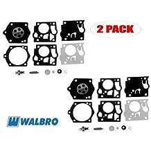 2 Pack Red Max EB7000 Kawasaki Blower AG20 Genuine Walbro K13-WYK Carburetor Repair Kit for Maruyama MBS260 // BC320//H BC260//H