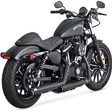 Vance /& Hines 16763 Twin Slash 4 Rounds Chrome Slip On Mufflers For Harley-Davidson Touring 1995-2016 Bikes
