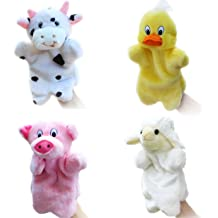 Style 4 Bstaofy Plush Hand Puppet Stuffed Toy Open Movable Mouth for Creative Role Play Gift for Kids Toddlers on Birthday Christmas