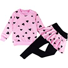 Patricks Day Shamrock Lucky Clover 3pc Outfit Set Pants /& Scarf BaBee Little Girls St Top