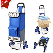 Black  Shopping Grocery Foldable Cart Condo Apartment dbest products Stair Climber Trolley Dolly