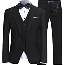 Unlisted by Kenneth Cole Mens 2 Button Slim Fit Suit with Hemmed Pant Business Suit Pants Set