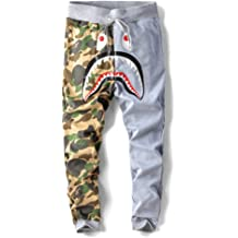 Mens BAPE Camouflage Sweatpants Shark Head A Bathing Ape Trousers Casual Pants