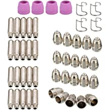 Alffun 50pcs PT-31-50 Tip Set 50 for PT-31//LG-40 Consumables for CUT 50 CT312 CT520 or other machines with Plasma cutting feature