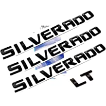 Yoaoo/® 1x OEM Black Sierra Nameplates Alloy Letter Emblem Badge Glossy for Chevrolet Gm 2500HD 3500HD Sierra