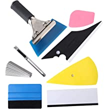 Anano 8 Pcs Window Film Installation Tool Kit For Automobile Car Wrap Trim Window Tint Works Car Squeegee Set Kit