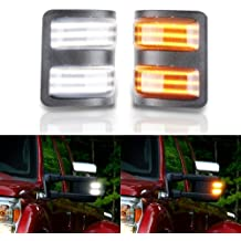 GemPro 2-Pack LED License Plate Light Lamp Assembly For 2015-up Ford F150 2017-up Ford Raptor Powered by 18SMD White 6000K LED Lights