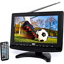 "AC//DC Compatible Axess TV1705-13 13.3/"" LED HDTV ATSC//NTSC Tuner USB//HDMI"