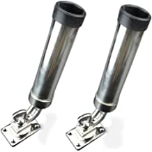 Attwood Deck Mount Rod Holder Set Black Holds up to 5 rods Stainless steel mount