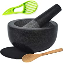 4 inch Wooden Mortar and Pestle Set for Kitchen Pills Mash Spices Guacamole Crush Nuts Garlic Fruit 100/% Natural Bamboo Spice Grinder DecorRack Bamboo Mortar and Pestle Herbs Press Pepper