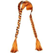 Topcosplay Purple Wigs for Kids Girls Child Long Curly Mal Wig Halloween Wigs