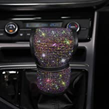 FSD Luster Crystal Arm Rest Padding Protective Case Diamond Car Decor Accessories for Women Universal Bling Bling Car Center Console Cover