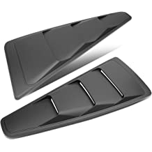 15-18 Ford Mustang Coupe DNA Motoring ZTL-Y-0003 Pair Rear Quarter Side Window Louver
