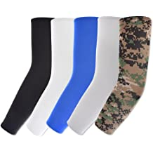 Boys Girls Volleyball Baseball Running Arm Sleeves for Kids Compression White Youth Basketball Shooter Sleeve Best Elbow Warmers Protection for Football Scorpion 2 Pairs