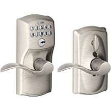Satin Nickel Lockey 285-P-SN Mechanical Keyless Lever Panic Trim