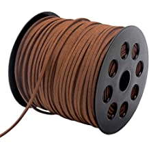 Dark Brown Leather Lace Cord 1//8 Inch Wide for Making Necklaces Bracelets Crafts