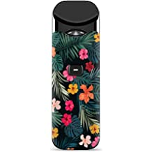 Skin Decal Vinyl Wrap for  Echo Dot 2 stickers skins cover 2nd generation // Hibiscus hawaiian flowers Purple