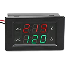 LED Display Volt Amperage Reader Gauge with Current Transformer CT AC Voltage Amp Display DROK Digital Voltmeter Ammeter Multimeter Panel 500V 200A Voltage Current Tester Meter