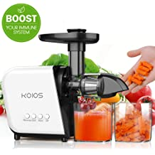 Large Easy Clean Higher Juicer Yield and Drier Pulp Slow Masticating Juicer Cold Press Juicer Machine Easy to Clean Juicer Juice Extractor with Quiet Motor and Reverse Function