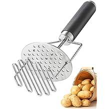 11 inches Potato Masher Potato Masher Stainless Steel Non Stick Ergonomic Handle Easy to Use Mashed Utensil For Pressing Guacamole Avocado Tomato Strawberry Jam