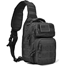 Shoulder or Chest Bag for Travel Cycling Backpack Crossbody Fanny Waist Pack Fitdom Tactical Sling Bag for Men Also Use As EDC Made from Heavy Duty Nylon /& Built Tough for Outdoor