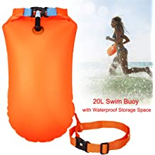 Ultralight Bubble Tow Float and Dry Bag for Open Water Swimming Kayaking Snorkeling Diving Fishing Trailing Stand Up Paddling with Adjustable Waist Belt Naturehike 28L High Visible Safety Swim Buoy