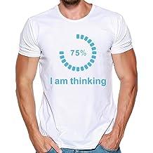 Mens T Shirt Loading I/'m Thinking Print Tee Shirt Teen Boy Sport Fitness Blouse Zulmaliu